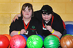Suzanne Reilly and Karen Lynch from the Ennis Eagles Bowling Club pictured during the Special Olympics Munster qualifiers at Leisure World in Ennis. Photograph by Declan Monaghan