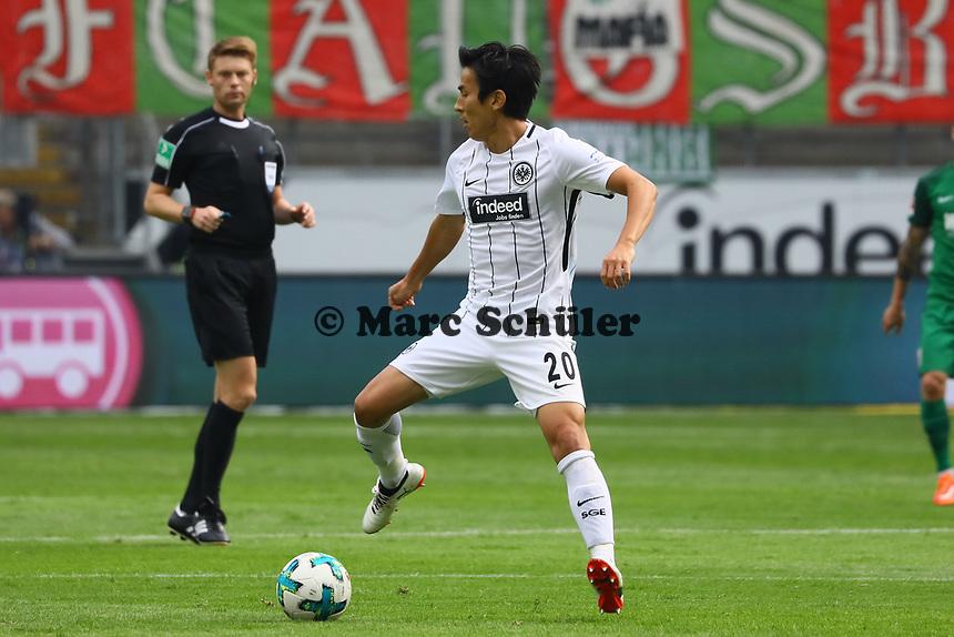 Makoto Hasebe (Eintracht Frankfurt) - 16.09.2017: Eintracht Frankfurt vs. FC Augsburg, Commerzbank Arena