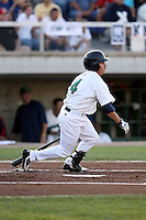 August 16 2008:  Third Baseman Chris Cates (4) of the Beloit Snappers, Class-A affiliate of the Minnesota Twins, during a game at Pohlman Field in Beloit, WI.  Photo by:  Mike Janes/Four Seam Images