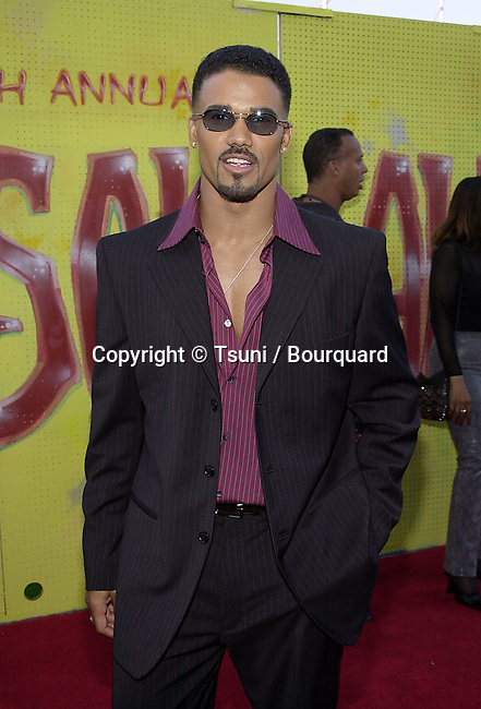 Shemar Moore arriving at the 7th Annual Soul Train, Lady of Soul Awards at the Santa Monica Auditorium in Los Angeles. August 28, 2001 © Tsuni          -            MooreShemar06.jpg