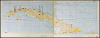 BNPS.co.uk (01202) 558833Pic: RRAuction/BNPS<br /> <br /> Crisis?...What Crisis? - JFK's pesonal map of Cuba sells for a whopping &pound;100,000.<br /> <br /> The historic map that JFK used to plot his way through the darkest hours of the Cuban Missile Crisis of 1962 has sold for over 6 times its estimate.<br /> <br /> JFK pored over the map on 27th of October that year, the day the world held its breath as the Superpowers almost spiralled into nuclear war over Castro's Cuba.<br /> <br /> US President John F Kennedy used the map to examine the locations of all the Soviet missiles and aircraft in Cuba, and decide whether or not to launch an air strike as tensions between the countries reached a climax.<br /> <br /> The president referred to the map as the 'victory map' after he avoided all-out war and struck a deal that brought the crisis to an end the following day.<br /> <br /> The hammer came down at $138,798 in Boston yesterday - approximatly &pound;97,000.