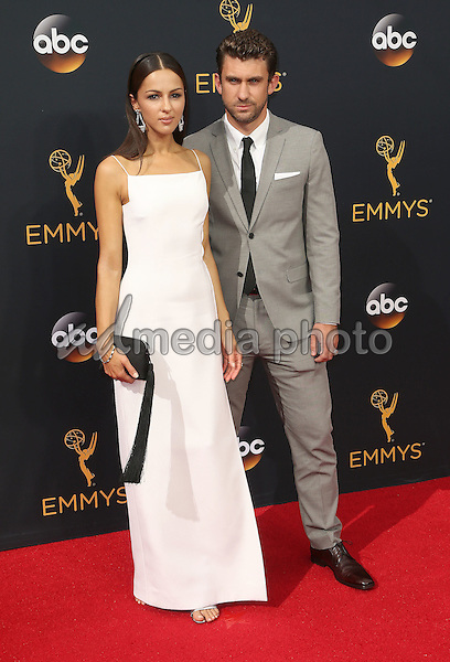 18 September 2016 - Los Angeles, California - Annet Mahendru, Lucian Gibson. 68th Annual Primetime Emmy Awards held at Microsoft Theater. Photo Credit: AdMedia