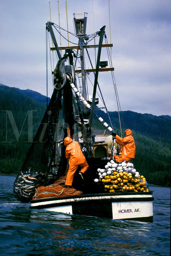 Commercial Fishing, Salmon Seiner. Prince William Sound, Alaska.