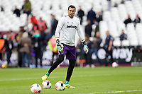 Roberto of West Ham United before West Ham United vs Crystal Palace, Premier League Football at The London Stadium on 5th October 2019
