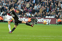 Robert Snodgrass Of West Ham United shoots during West Ham United vs Burnley, Premier League Football at The London Stadium on 3rd November 2018