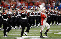 The Ohio State marching band takes the field before the Allstate Sugar Bowl college football playoff semifinal at Mercedes-Benz Superdome in New Orleans on Thursday, January 1, 2015. (Columbus Dispatch photo by Jonathan Quilter)