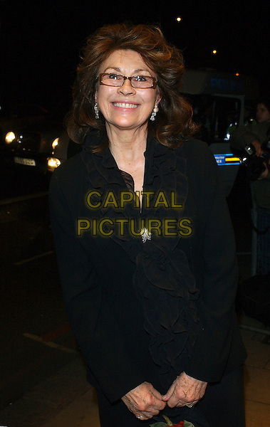 NANETTE NEWMAN.The Awards of the London Film Critics Circle (ALFS), at the Dorchester Hotel, London, UK..February 8th, 2006.Ref: BEL.half length black top ruffles glasses.www.capitalpictures.com.sales@capitalpictures.com.© Capital Pictures.