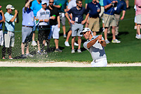 Charl Schwartzel (RSA) on the 2nd green side bunker during Wednesdays preview at the The Masters , Augusta National, Augusta, Georgia, USA. 10/04/2019.<br /> Picture Fran Caffrey / Golffile.ie<br /> <br /> All photo usage must carry mandatory copyright credit (&copy; Golffile | Fran Caffrey)