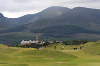 Amalie Leith-Nissen (DEN) on the 1st fairway during Round 1 of the Women's Amateur Championship at Royal County Down Golf Club in Newcastle Co. Down on Tuesday 11th June 2019.<br /> Picture:  Thos Caffrey / www.golffile.ie<br /> <br /> All photos usage must carry mandatory copyright credit (© Golffile | Thos Caffrey)