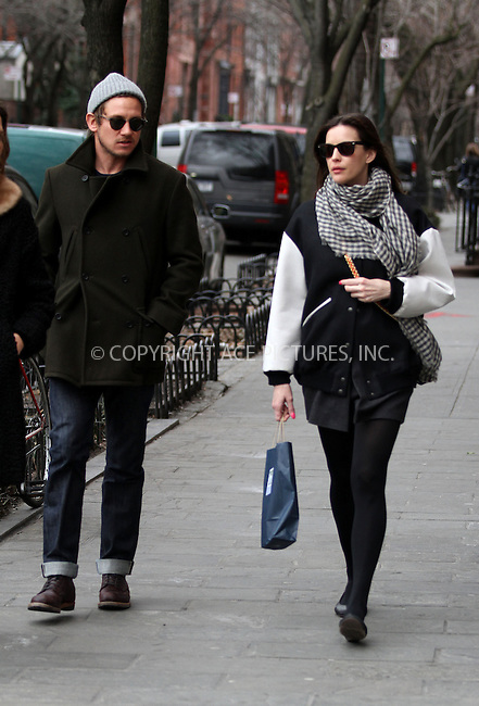 WWW.ACEPIXS.COM....March 11 2013, New York City....Actress Liv Tyler and her new male friend stroll in the West Village on March 11 2013 in New York City....By Line: Zelig Shaul/ACE Pictures......ACE Pictures, Inc...tel: 646 769 0430..Email: info@acepixs.com..www.acepixs.com