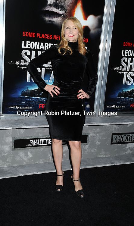 Patricia Clarkson in Armani dress