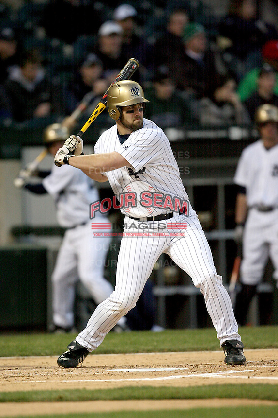 April 15, 2009: Casey Martin (38) of the Notre Dame Fighting Irish at US Cellular Field in Chicago, IL.  Photo by: Chris Proctor/Four Seam Images