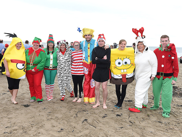 Members of the Special Olympics at the Polar Plunge at Clogherhead Beach. Photo:Colin Bell/pressphotos.ie