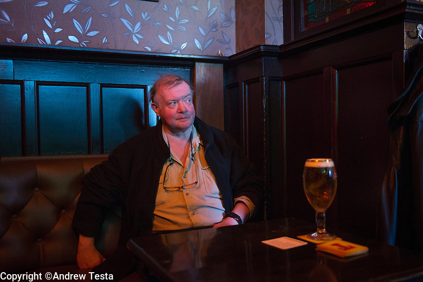 Scotland. Ailsa Craig . 10th November 2013<br /> Charles Kennedy, the Marquis of Ailsa, in the Market Inn pub in Ayr.<br /> &copy;Andrew Testa for the New York Times