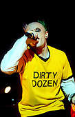 THE PRODIGY - Keith Flint - performing live at the Academy in Brixton London UK - 11 Oct 1996.  Photo credit: PG Brunelli/IconicPix