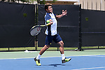 13 May 2016: Michigan's Kevin Wong (HKG). The University of Michigan Wolverines played the East Tennessee State University Buccaneers at the Wake Forest Tennis Center in Winston-Salem, North Carolina in a 2015-16 NCAA Division I Men's Tennis Tournament First Round match. Michigan won the match 4-3.