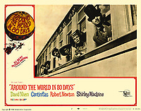Around the World in 80 Days (1956) <br /> Lobby card with Cantinflas, Shirley MacLaine, David Niven &amp; Robert Newton<br /> *Filmstill - Editorial Use Only*<br /> CAP/MFS<br /> Image supplied by Capital Pictures