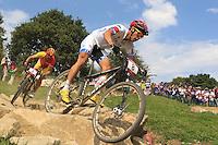 Marco Aurelio Fontana (ita) medaglia di Bronzo.Cycling Mountain Bike Men Final at 12 08 2012 Olympic Summer Games 2012 in London.12/08/2012 London..Foto Insidefoto / Nico Vereecken / Photo News Panoramic