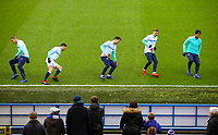 Players go through their warm ups, inside Ewood Park, home of Blackburn Rovers FC<br /> <br /> Photographer Alex Dodd/CameraSport<br /> <br /> The EFL Sky Bet Championship - Blackburn Rovers v Hull City - Saturday 26th January 2019 - Ewood Park - Blackburn<br /> <br /> World Copyright © 2019 CameraSport. All rights reserved. 43 Linden Ave. Countesthorpe. Leicester. England. LE8 5PG - Tel: +44 (0) 116 277 4147 - admin@camerasport.com - www.camerasport.com