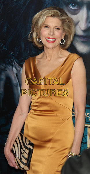 December 08, 2014: Christine Baransk at The World premiere of Disney's Into the Woods  at the Ziegfeld Theatre in New York.  <br /> CAP/MPI/RW<br /> &copy;RW/MPI/Capital Pictures