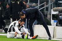 Calcio, quarti di finale di Tim Cup: Juventus vs Milan. Torino, Juventus Stadium, 25 gennaio 2017.<br /> Juventus coach Massimiliano Allegri, right, talks to his player Gonzalo Higuain during the Italian Cup quarter finals football match between Juventus and AC Milan at Turin's Juventus stadium, 25 January 2017.<br /> UPDATE IMAGES PRESS/Manuela Viganti