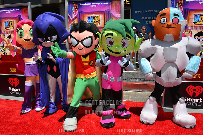 Teen Titans at the premiere for &quot;Teen Titans Go! to the Movies&quot; at the TCL Chinese Theatre, Los Angeles, USA 22 July 2018<br /> Picture: Paul Smith/Featureflash/SilverHub 0208 004 5359 sales@silverhubmedia.com