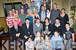 21ST CELEBRATIONS: Sunderland midfielder Billy Dennehy (seated centre), came home to Gallowsfield, Tralee, last weekend to celebrate his 21st birthday with family and friends in the Abbey Gate Hotel on Saturday night.   Copyright Kerry's Eye 2008
