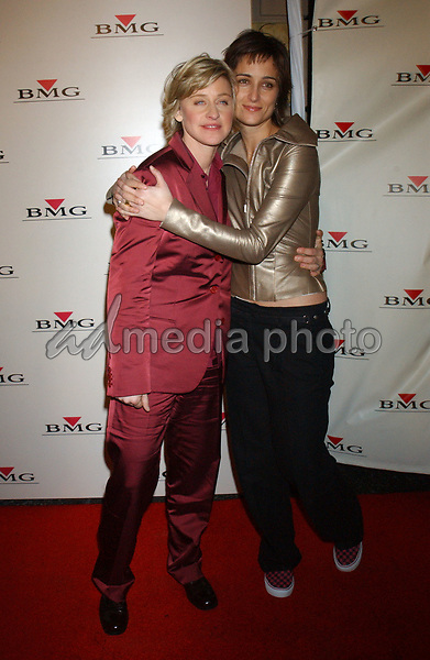 Feb. 8, 2004; Hollywood, CA, USA; Comedian ELLEN DeGENERES and ALEXANDRA HEDISON during the BMG 46th Annual Grammy Awards Post-Grammy Gala Celebration held at The Avalon. Mandatory Credit: Photo by Laura Farr/AdMedia. (©) Copyright 2003 by Laura Farr