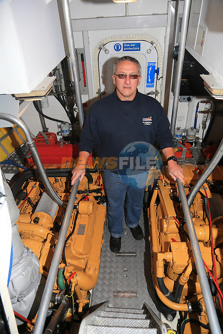 "Clogherhead Lifeboat Mechanic Padraig ""Popps' Rath on board the RNLB Dorris Beasdale..Picture:  Fran Caffrey www.golffile.ie .."