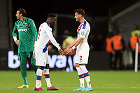 Crystal Palace players celebrate the victory during West Ham United vs Crystal Palace, Premier League Football at The London Stadium on 5th October 2019