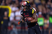 College Park, MD - SEPT 27, 2019: Maryland Terrapins running back Anthony McFarland Jr. (5) runs the ball during game between Maryland and Penn State at Capital One Field at Maryland Stadium in College Park, MD. The Nittany Lions beat the Terps 50-0. (Photo by Phil Peters/Media Images International)