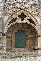 France, Bretagne, (29), Finistère,  Pont-Croix:  Portail  Notre-Dame de Roscudon