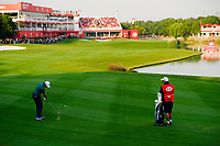 Justin Rose (ENG) on the 18th fairway during the 3rd round at the WGC HSBC Champions 2018, Sheshan Golf CLub, Shanghai, China. 27/10/2018.<br /> Picture Fran Caffrey / Golffile.ie<br /> <br /> All photo usage must carry mandatory copyright credit (&copy; Golffile | Fran Caffrey)