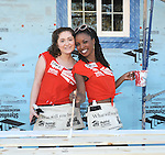 Emma Kenney and Shanola Hampton at the Habitat For Humanity With Stars From Shamless and House Of Lies help build homes in Los Angeles, CA. October 25, 2014.