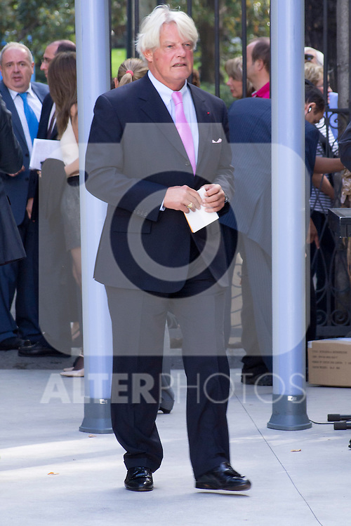 08.10.2012. Spanish Royals, Juan Carlos and Sofia, preside the ceremony commemorating the 20th anniversary of the Thyssen-Bornemisza Museum located in the Villahermosa Palace, in Madrid, Spain. In the image Bruno Delaye (French Ambassador to Spain). (Alterphotos/Marta Gonzalez)