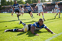 Semesa Rokoduguni of Bath Rugby scores his first try of the match. Aviva Premiership match, between Bath Rugby and Saracens on September 9, 2017 at the Recreation Ground in Bath, England. Photo by: Patrick Khachfe / Onside Images