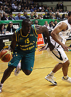 Boomers forward Nathan Jawai during the International basketball match between the NZ Tall Blacks and Australian Boomers at TSB Bank Arena, Wellington, New Zealand on 25 August 2009. Photo: Dave Lintott / lintottphoto.co.nz