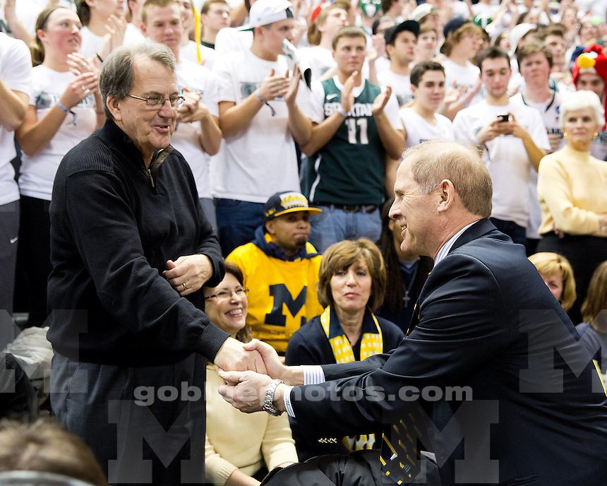 The University of Michigan men's basketball team lost to Michigan State, 75-52, at the Breslin Center in East Lansing, Mich., on February 12, 2013.