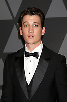 HOLLYWOOD, CA - NOVEMBER 11: Miles Teller at the AMPAS 9th Annual Governors Awards at the Dolby Ballroom in Hollywood, California on November 11, 2017. Credit: David Edwards/MediaPunch /NortePhoto.com