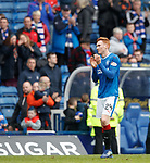 05.05.2018 Rangers v Kilmarnock:  David Bates says his farewells to the Rangers supporters at Ibrox after his final home game