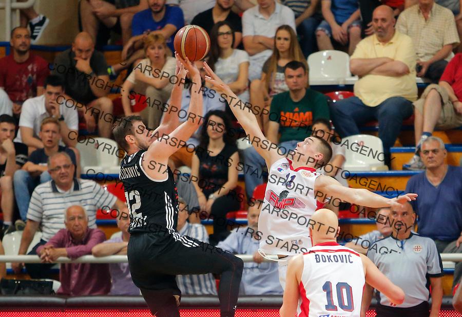 Novica Velickovic Stefan Lazarevic FMP - Partizan, KLS Kosarkaska Liga Srbije  30.4.1016. April 30. 2016. (credit image & photo: Pedja Milosavljevic / STARSPORT)