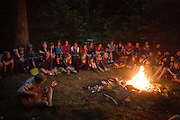 "Campfire and light trail ends the ""Camp in Camp"" in Hörby.  Photo: Jonas Elmqvist"