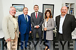 Michael Williams, David Brown (President of RIAI),  Minister Brendan Griffin TD, Catherine Meghan (CEO RIAI) and Cormac Kane attending the Kane Williams Architects offices on Friday..