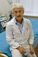 Odinitsovo, Russia, 26/06/2007..Doctor Mikhail Zobin in his Medical Centre For Drug And Alcohol Dependence. The centre, which uses radical therapy developed by the former military doctor to treat Russian soldiers who became addicted in Afghanistan, claims an 85% success rate in curing heroin addiction.
