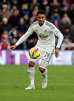 Pictured: Kyle Naughton of Swansea Sunday 01 February 2015<br />