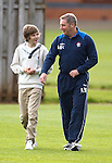 Ally McCoist takes his son with him to watch training