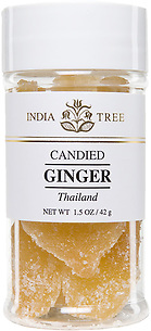 30906 Candied Thai Ginger, Small Jar 1.5 oz, India Tree Storefront