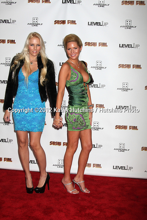 LOS ANGELES - NOV 27:  Ashley and Hannah arrives at the 'Sushi Girl' Premiere at Graumans Chinese Theater on November 27, 2012 in Los Angeles, CA