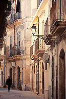 Street scenes in the historic centre of Ortigia, Siracusa, Sicily