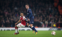 Theo Walcott of Arsenal & Nenad Krsticic of Crvena Zvezda (Red Star Belgrade) during the UEFA Europa League group stage match between Arsenal and FC Red Star Belgrade at the Emirates Stadium, London, England on 2 November 2017. Photo by PRiME Media Images.